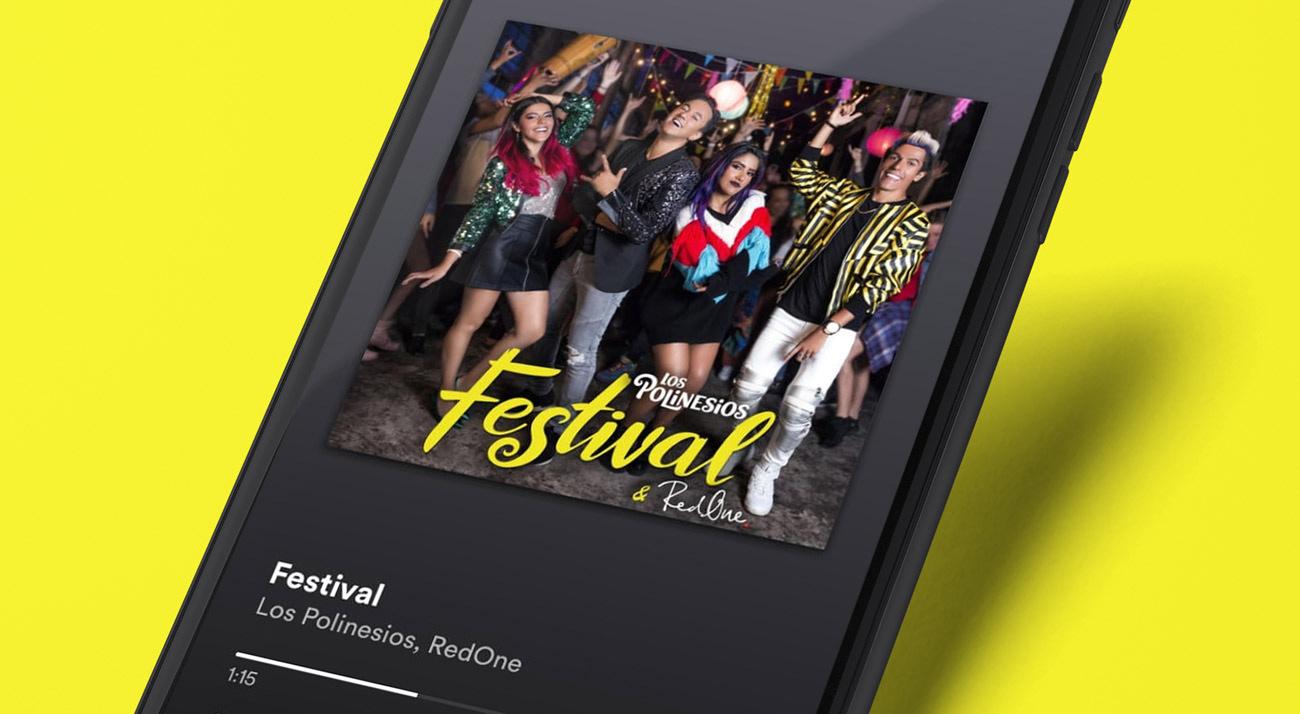 Diseño de portada Festival, con Los Polinesios y RedOne